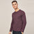 brandsego - Beverly Hills Single Jersey Long Sleeve Tee Shirt For Men-Maroon Melange-BE8181