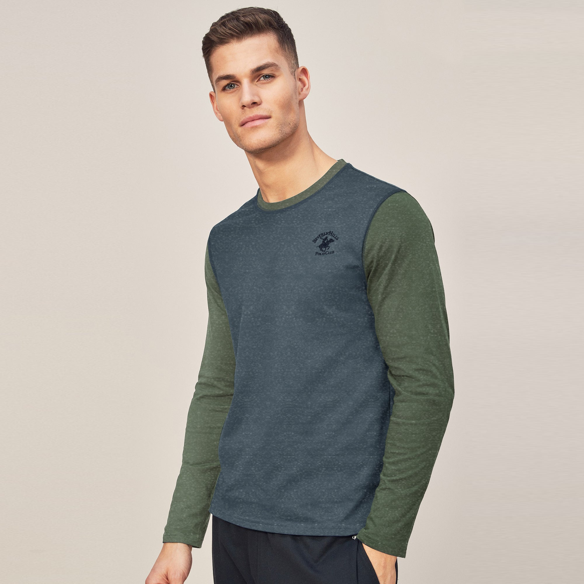 fc4d8cc5 Beverly Hills Polo Club Single Jersey Long Sleeve Tee Shirt For Men-Na -  BrandsEgo