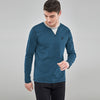 Beverly Hills Single Jersey Long Sleeve Tee Shirt For Men-Dark Cyan Melange-BE8922