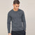 brandsego - Beverly Hills Single Jersey Long Sleeve Tee Shirt For Men-Dark Grey Melange-BE8907