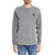 brandsego - Beverly Hills Single Jersey Long Sleeve Tee Shirt For Men-Grey Melange-BE8905