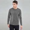 Beverly Hills Single Jersey Long Sleeve Tee Shirt For Men-Grey Melange-BE8924
