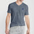brandsego - Beverly Hills V Neck Half Sleeve Tee Shirt For Men-Light Navy Lining-BE8246