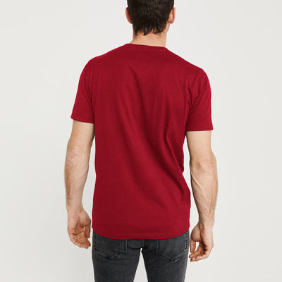 brandsego - Beverly Hills V Neck Half Sleeve Tee Shirt For Men-Red-BE8876