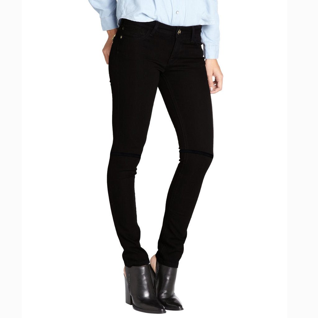 "Women ""Like An Angel"" Skinny Fit Stretch Denim-Black (WD204)"