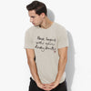 brandsego - Blooming Soute Crew Neck T Shirt For Men-Light Pale Grey-BE5003