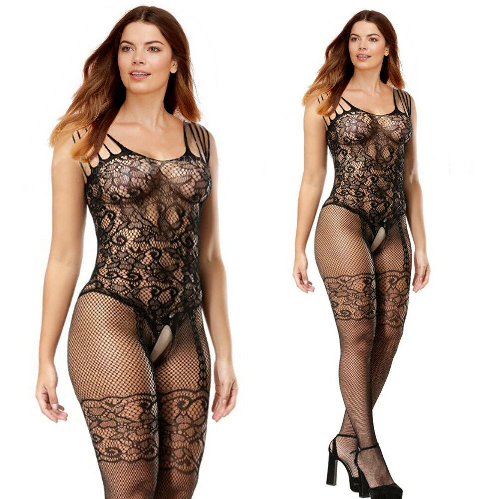 Body Stockings Fishnet Pattern Pantyhose Party Body Suit For Ladies-BE8884