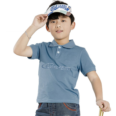 "Kids ""B&G"" Polo Shirt- Green-BE502"