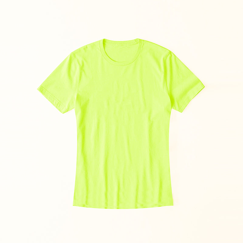 brandsego - Popular Sports Half Sleeve Crew Neck Tee Shirt For Women-Lime-NA9616
