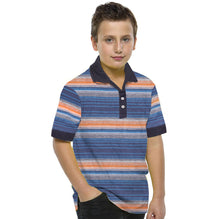 Kids Oliver Duke Cut Label Stylish Orange Striper Polo Shirt-DK55
