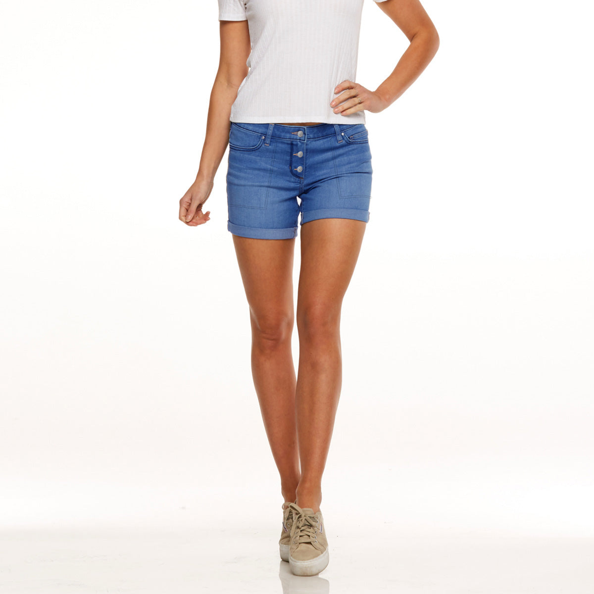 brandsego - Candy Couture Denim Short For Girls-Navy-SP057