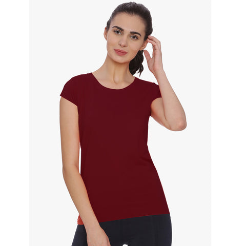 ChenOne-Blouse-For-Ladies-Dark Red-BE4833
