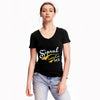 brandsego - Sipral Direct V Neck T Shirt For Ladies-Black-SDVT01