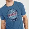 Coca-Cola Crew Neck Single Jersey Half Sleeve Tee Shirt For Men-Light Navy Melange-BE8286