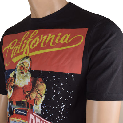 Coca Cola Crew Neck T Shirt For Men-Black-BE5286