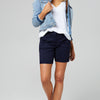Crew Clothing Co. Cotton Denim Skirt For Ladies-Royal Blue-BE7075