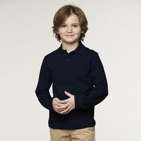 B Quality K12 Polo Shirt For Kid-Dark Navy-BE2279