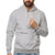 Fat Face Henley Hoodie For Men-Grey-BE3784