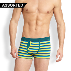 Classic Striped Boxer Shorts For Men-Assorted-NA1101
