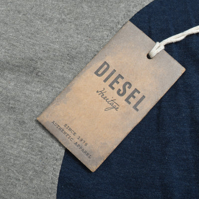 Diesel Summer Regular Fit Panel Trouser For Men-Dark Grey & Navy Melange-BE11648