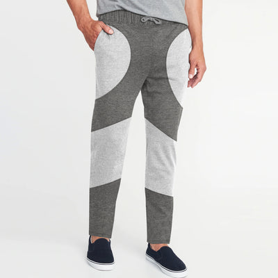 Diesel Summer Regular Fit Panel Trouser For Men-Light Grey & Slate Grey Melange-BE11778