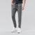 Diesel Summer Slim Fit Panel Trouser For Men-Charcoal Melange with Grey & White Stripe-BE11850