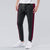 Diesel Summer Slim Fit Panel Trouser For Men-Dark Charcoal & Maroon Stripe-BE11973