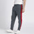 Diesel Summer Slim Fit Panel Trouser For Men-Dark Grey & Red Stripe-BE11848