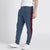 Diesel Summer Slim Fit Panel Trouser For Men-Light Navy & Maroon Stripe-BE11971