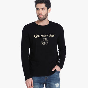 Dolmen Full Sleeve Crew Neck Tee Shirt For Men-Black-BE5132
