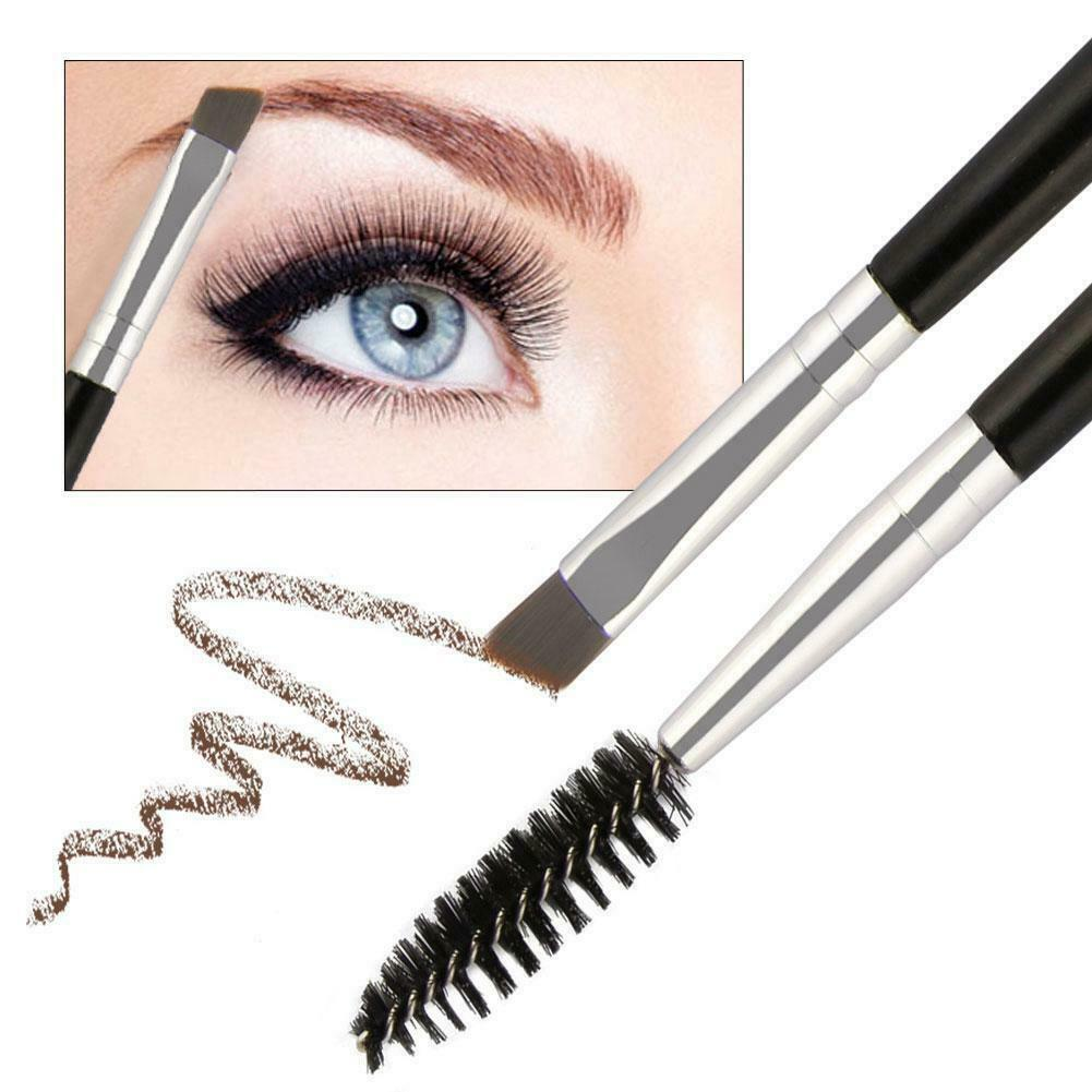 Double Sided Ended Eyebrow Makeup Wand Brow Shaping Angled Eyelash Brush-BE11633