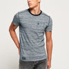 Drift King Crew Neck Single Jersey Tee Shirt For Men-Dark Navy Melange-BE8335