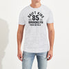 Drift King Crew Neck Tee Shirt For Men-Light Grey Melange-BE5501
