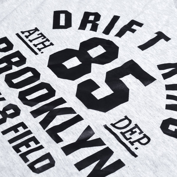 Drift King Crew Neck T Shirt For Men-Light Grey Melange-BE5501