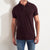 Drift King P.Q Polo Shirt For Men-Dark Maroon-BE5599