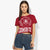E5 College Classic Stylish Crop Blouse For Ladies-Dark Red-BE5915