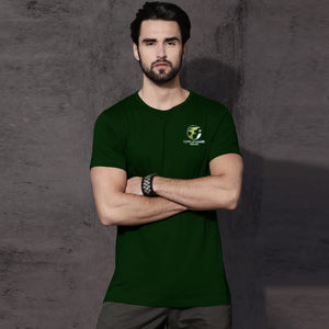 Dolmen Tee Shirt For Men-Dark Gareen-SA00128