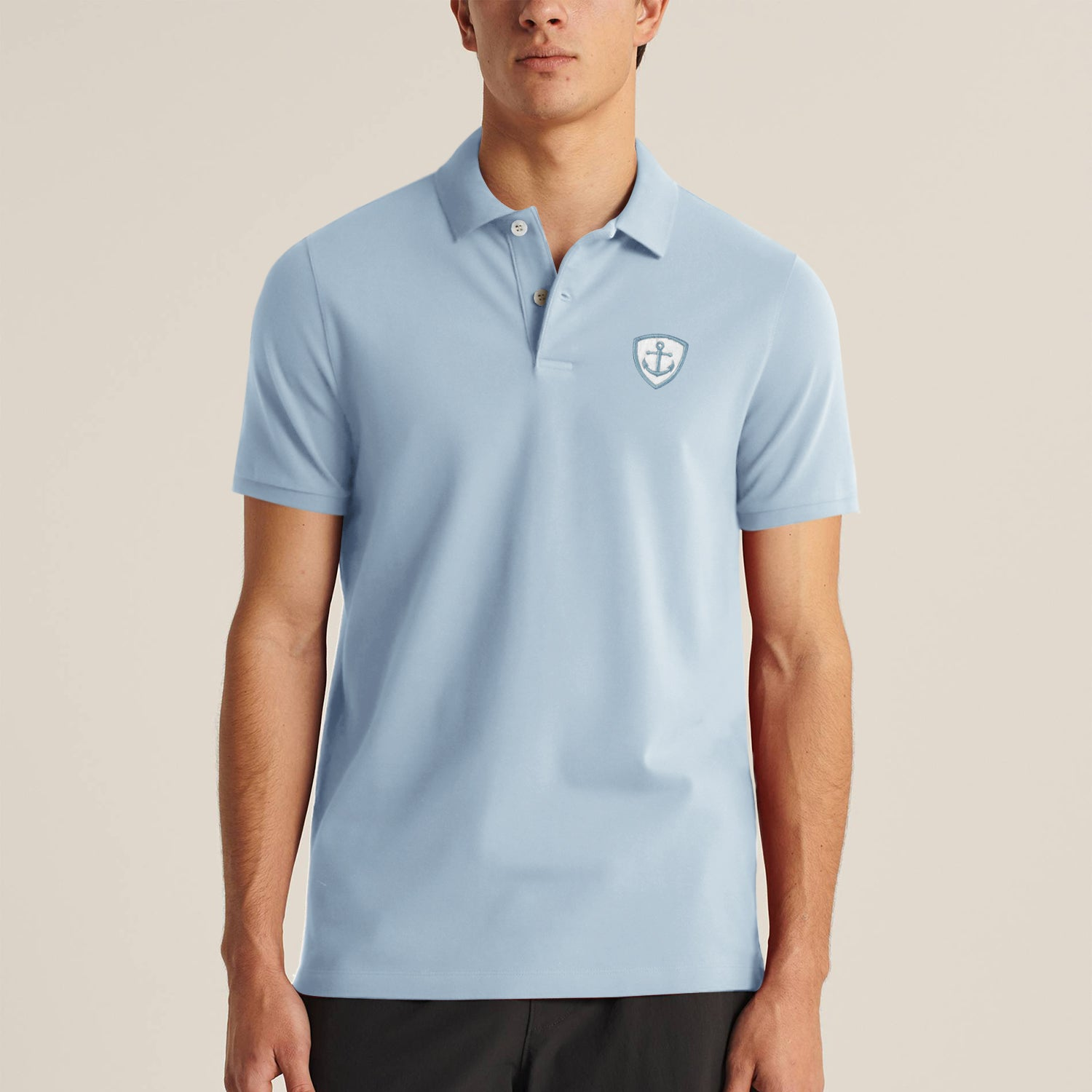 Express Stylish Summer Polo Shirt For Men-Light Blue-BE11456