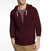 NEXT Thermal Zipper Hoodie For Men-Maroon-BE3780