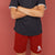 Ezza Single Jersey Short For Boys-Red-BE5983