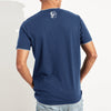 TU Crew Neck Single Jersey Tee Shirt For Men-Light Blue-BE8328