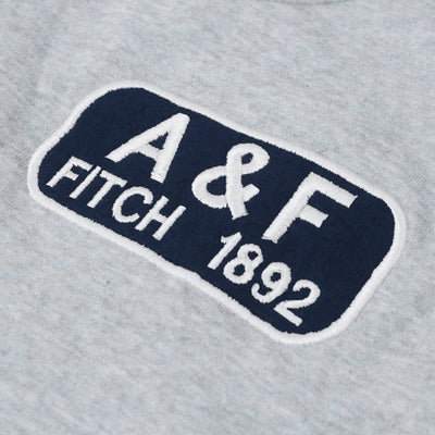 A&F Fleece Crew Neck Sweatshirt For Men-Grey Melange-BE6709