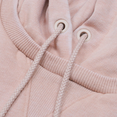 F&F Pullover Fleece Faded Hoodie For Men-Coral Pink-BE6315