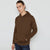 F&F Pullover Fleece Hoodie For Men-Brown-BE6272