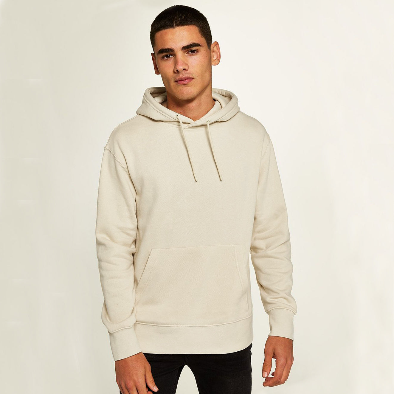 F&F Pullover Fleece Hoodie For Men-Skin-BE6205