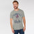 Farrell Crew Neck Tee Shirt For Men-Grey Melange-BE5892