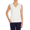 brandsego - Fashion Junction Single Jersey V Neck Blouse For Ladies-Off White-BE5897