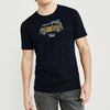 Fat Face Crew Neck Single Jersey Tee Shirt For Men-Dark Navy-BE8329