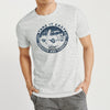 Fat Face Crew Neck Single Jersey Tee Shirt For Men-Off White Melange-BE8339