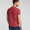 brandsego - Fat Face Crew Neck Single Jersey Tee Shirt For Men-Red Melange-BE8330